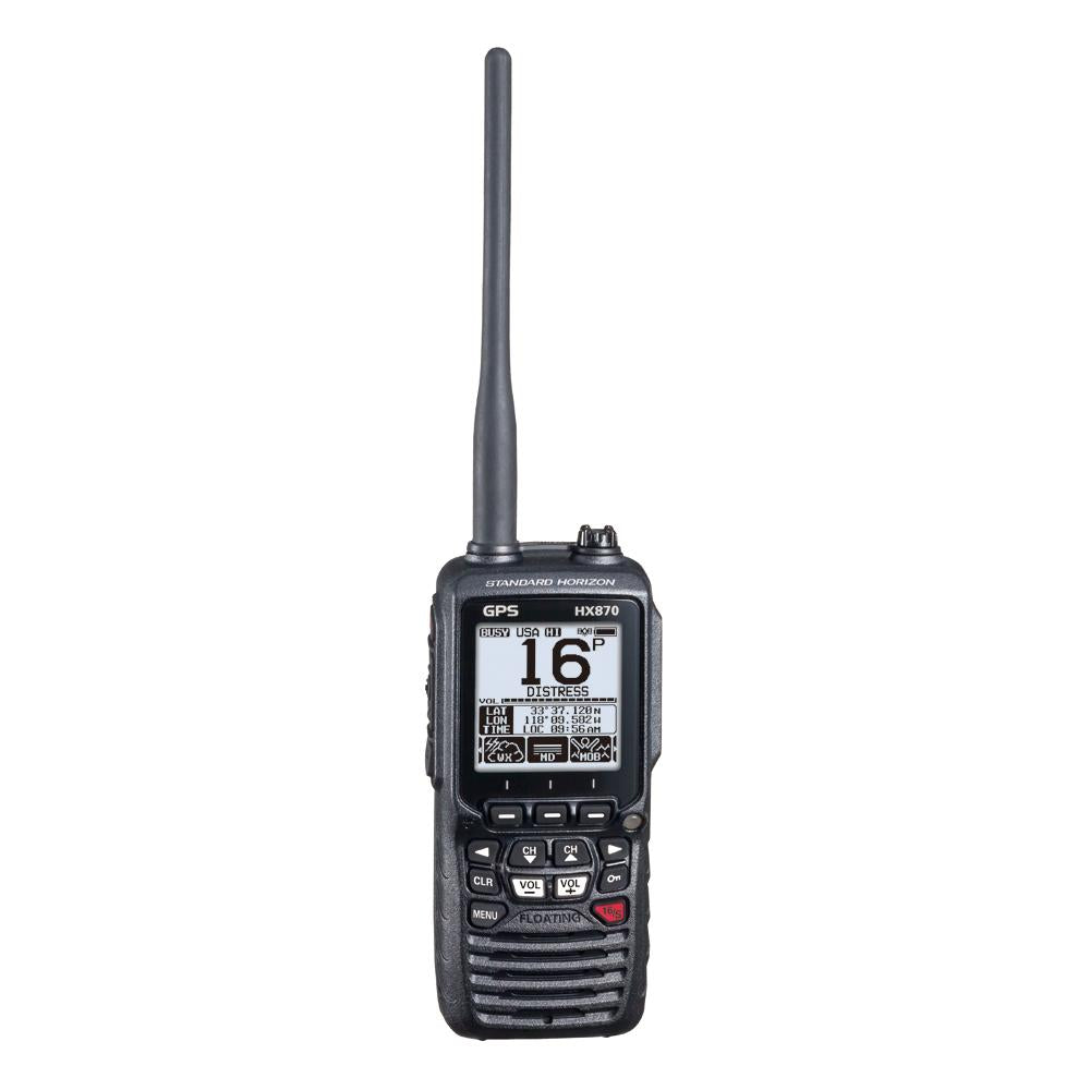 Standard Horizon HX870 6W Floating Handheld VHF Radio w-Integrated GPS
