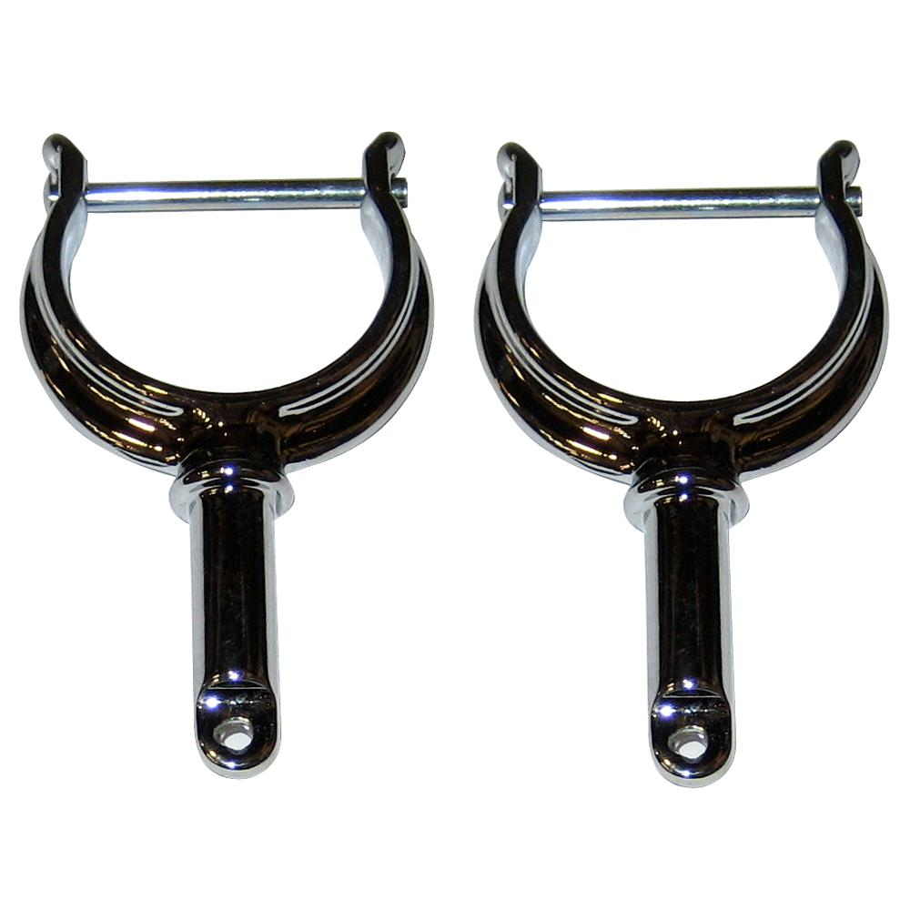 Perko North River Type Rowlock Horns - Chrome Plated Zinc - Pair