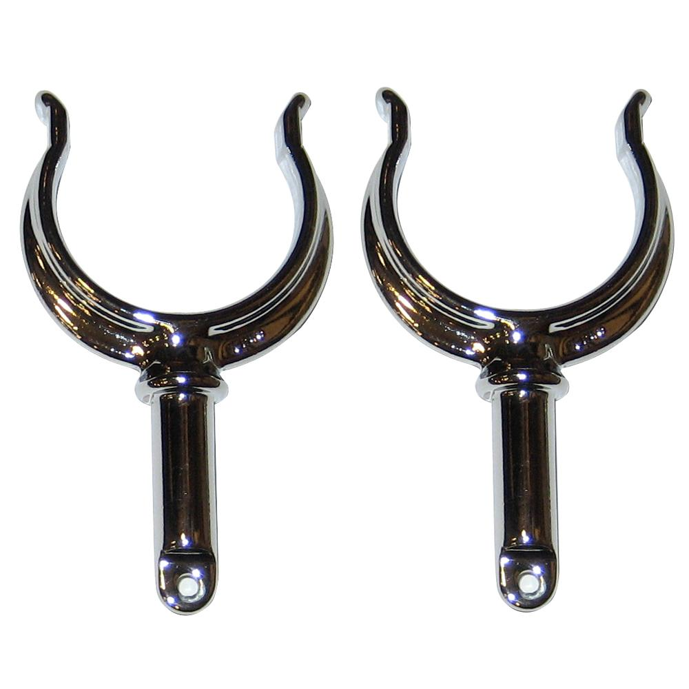 Perko Ribbed Type Rowlock Horns - Chrome Plated Zinc - Pair