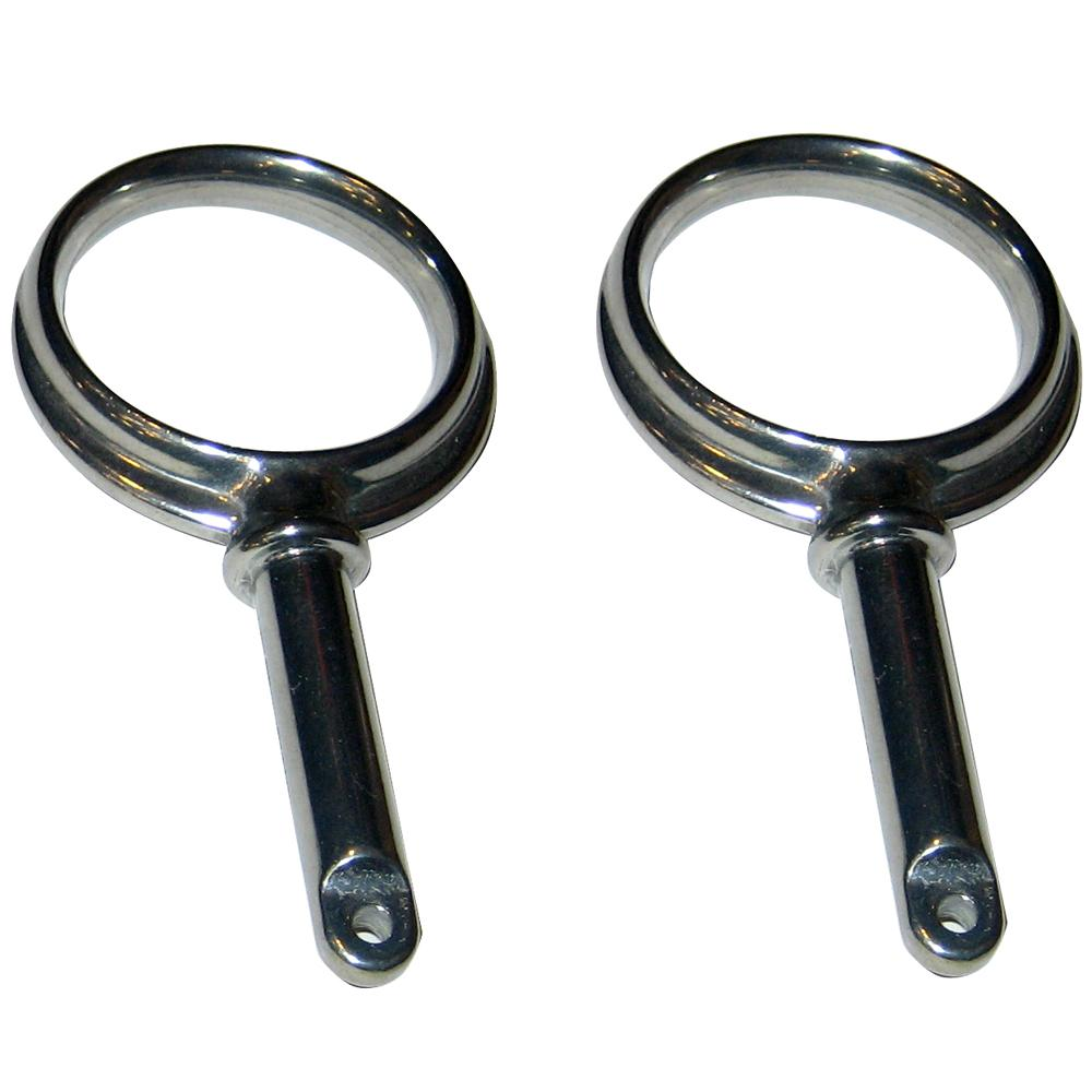 Perko Round Type Rowlock Horns - Chrome Plated Zinc