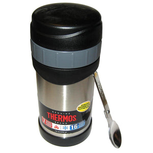 Thermos Stainless Steel Food Jar w-Folding Spoon - 16 oz.