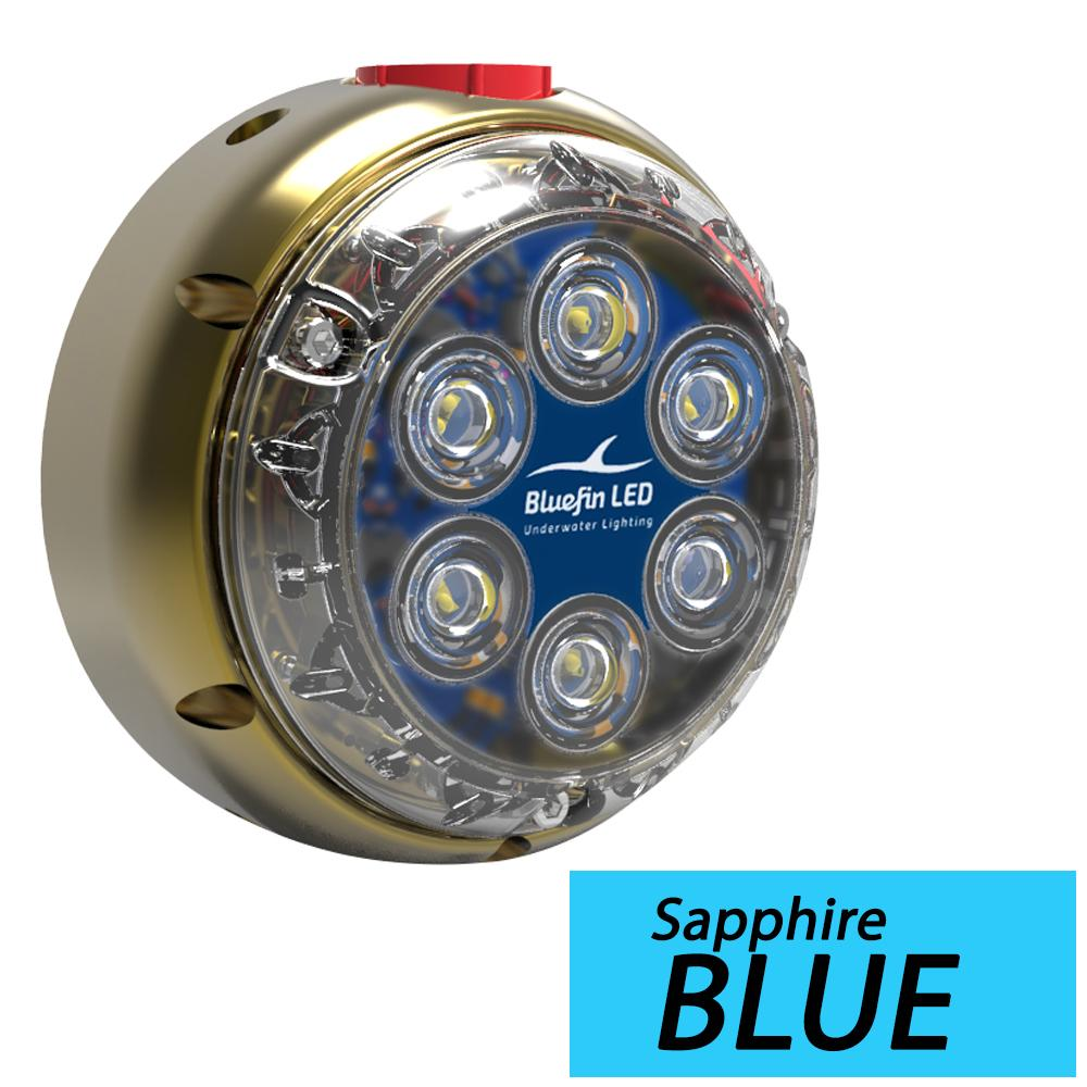 Bluefin LED DL12 Underwater Dock Light - Surface Mount - 24V - Sapphire Blue