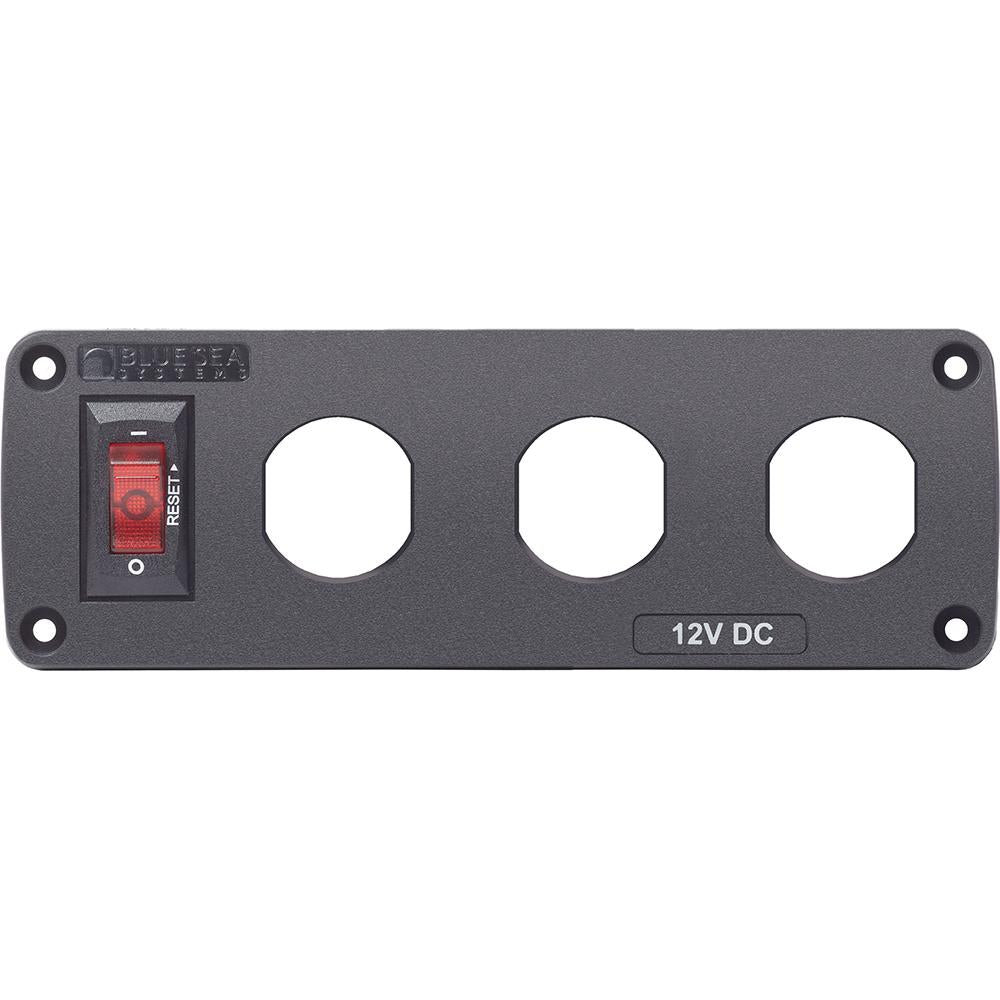 Blue Sea 4357 BelowDeck™ Panel - Circuit Breaker, 3x Blank Apertures