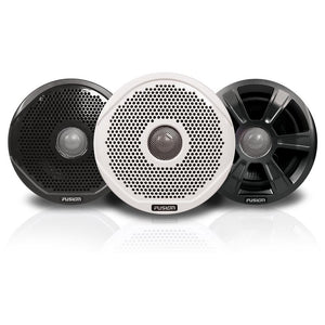 "FUSION FR6022 6"" Round 2-Way IPX65 Marine Speakers - 200W - Pair w-3 Speaker Grilles Provided"