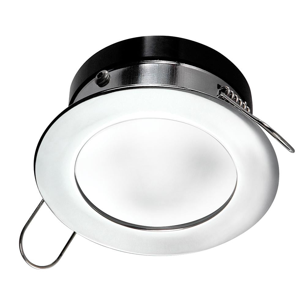 i2Systems Apeiron™ Pro Recessed LED - Tri-Color - Cool White-Red-Blue - 3W Dimming - Round Bezel - Chrome Finish