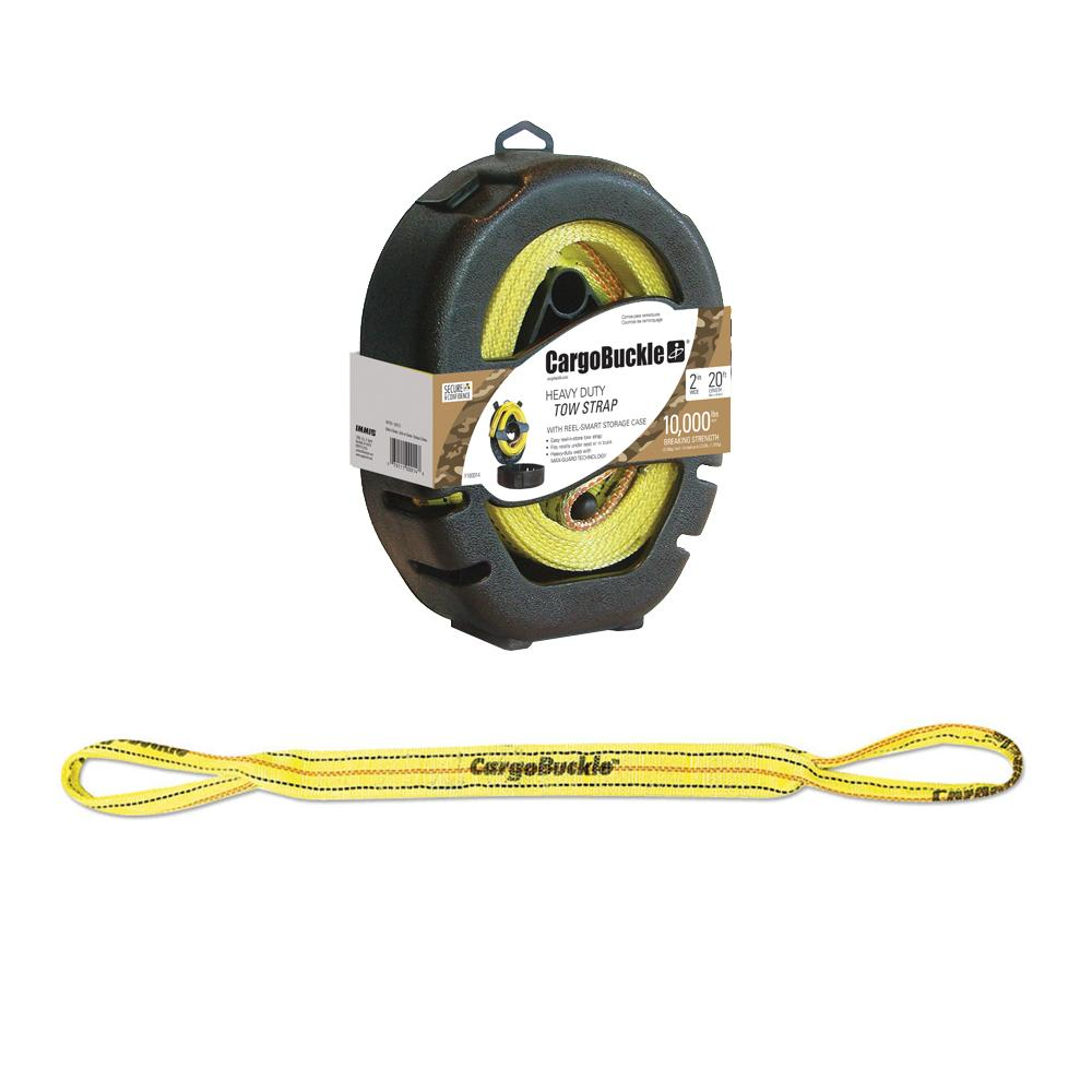 CargoBuckle Reel-Smart Tow Strap w-Reel Smart Storage Case - 20'