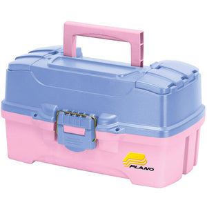 Plano Two-Tray Tackle Box w-Dual Top Access - Periwinkle-Pink