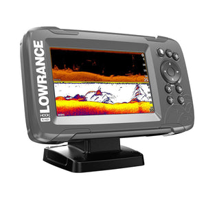 "Lowrance HOOK²-5 5"" Chartplotter-Fishfinder SplitShot Transom Mount Transducer w-Built-In US Inland Charts"