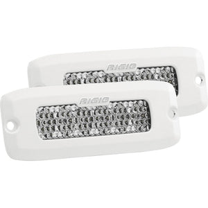 Rigid Industries SR-Q Series PRO Specter-Diffused LED - Flush Mount - Pair - White