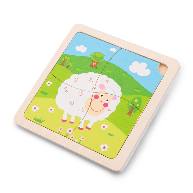 New Classic Toys Ξύλινο Mini Puzzle Sheep