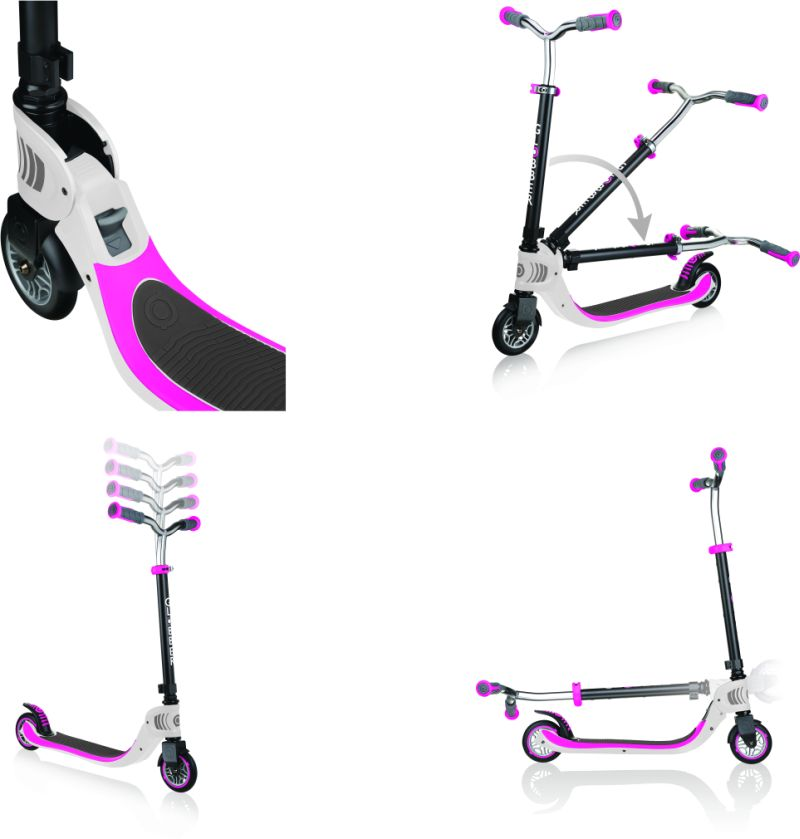 Globber Πατίνι Foldable Flow 125 White-Pink (473-162)