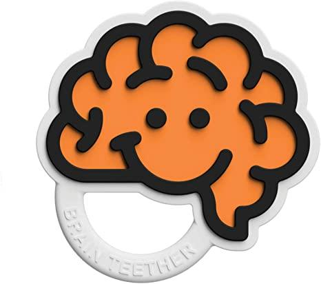 Fat Brain Toys - Brain Teether Orange