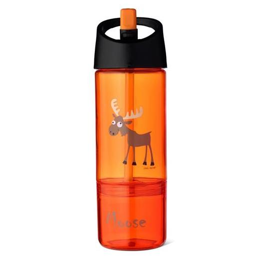 Carl Oscar Drink & Eat 2 in 1 Bottle Orange
