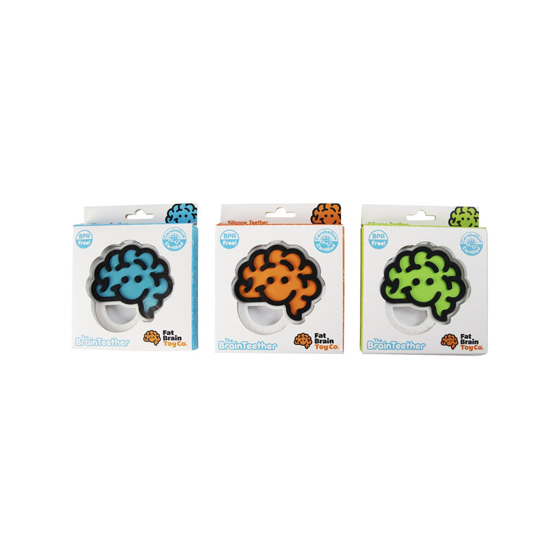 Fat Brain Toys - Brain Teether Green