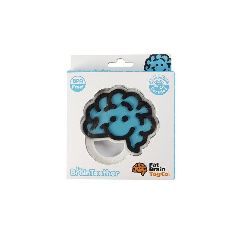 Fat Brain Toys - Brain Teether Blue