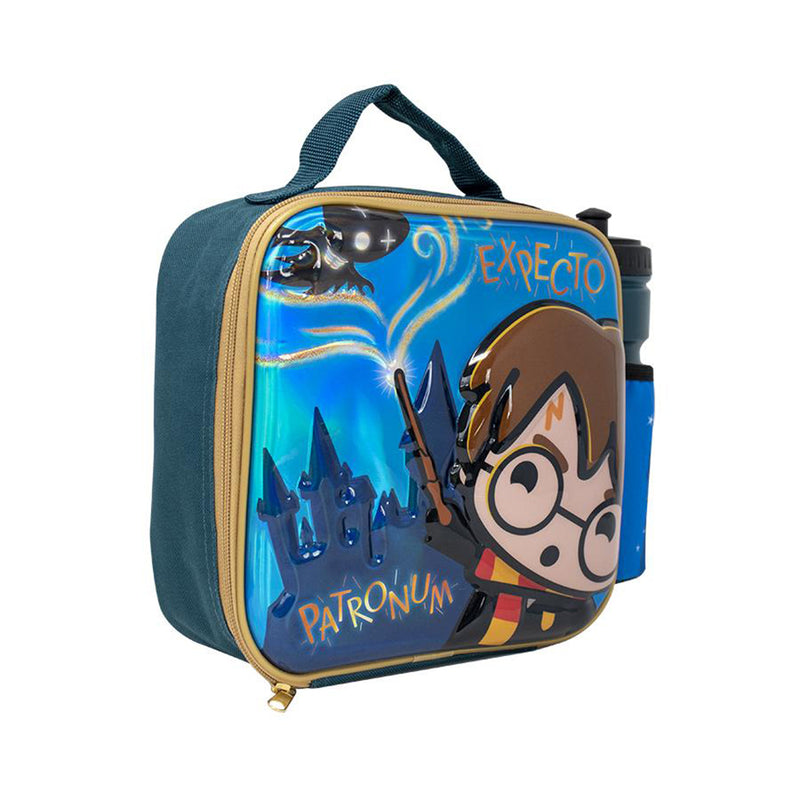 Harry Potter Kawaii Embossed 3D Lunch Bag With Bottle