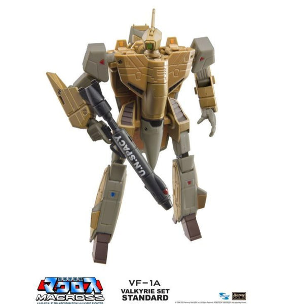 Macross Saga Retro Transformable Collection VF-1A Standard Valkyrie 1/100 Scale Figure