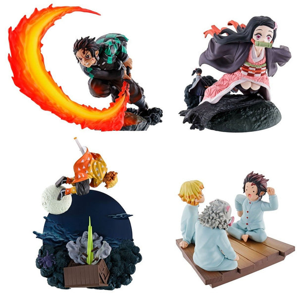 Demon Slayer Kimetsu no yaiba MEGAHOUSE PETITRAMA SERIES Vol.1 (Set of 4 Characters)(repeat)