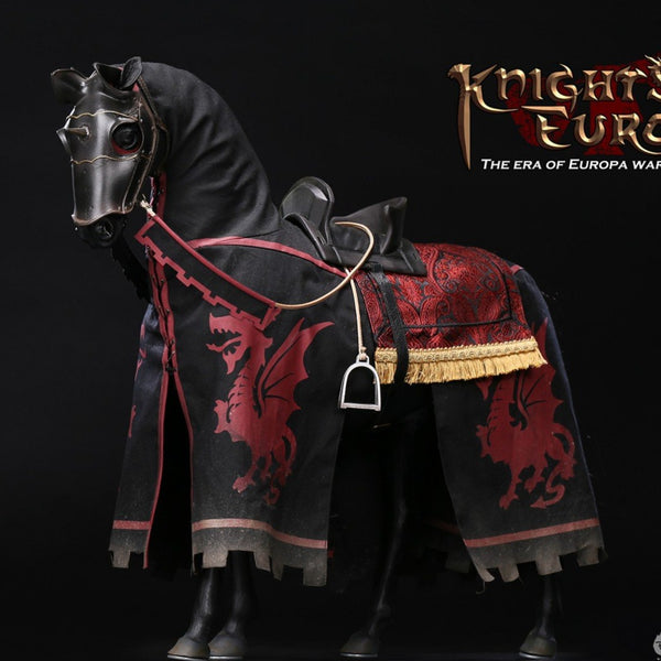 POP Toys [POP-ALS007] The Era of Europa War Black Armor Horse 1/6