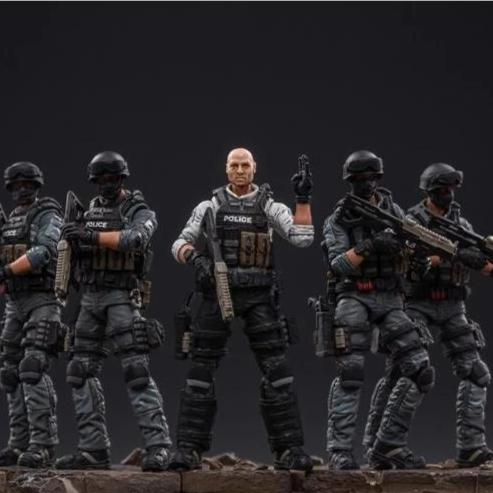 Joy Toy City Police Riot Team 1/18 Scale Set