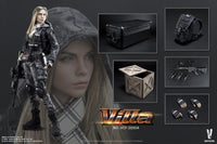 Verycool VCF-2035A Villa Sister Python Stripe Camouflage (Police Black) 1/6 Scale Action Figure