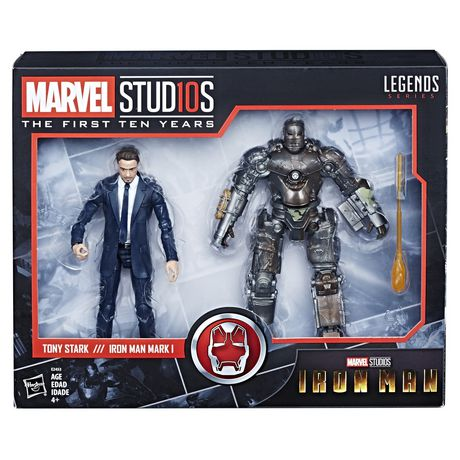 Hasbro Marvel Studios: The First Ten Years Iron Man Tony Stark And Mark I