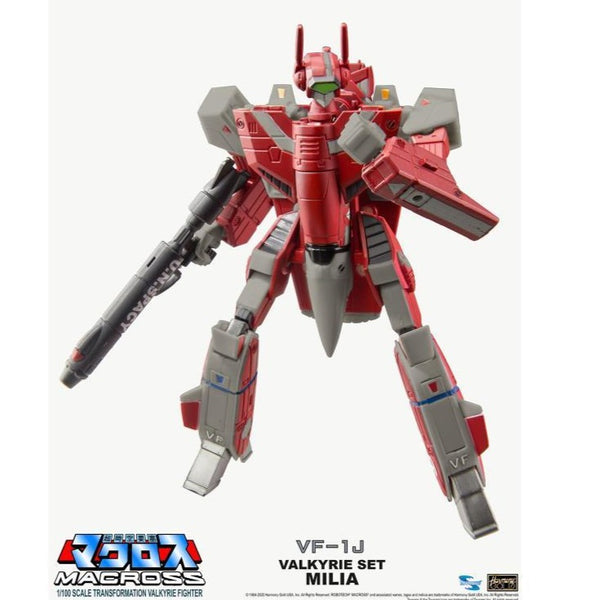 Macross Saga Retro Transformable Collection VF-1J Milia Valkyrie 1/100 Scale Figure