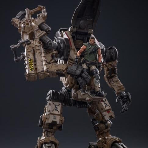 Joy Toy Dark Source Freeman Machine Armor With Pilot (Sand) 1/18 Scale Figure Set