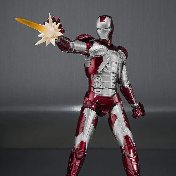 Bandai Tamashii Nations S.H.Figuarts Iron Man Mark V and Hall of Armor Set
