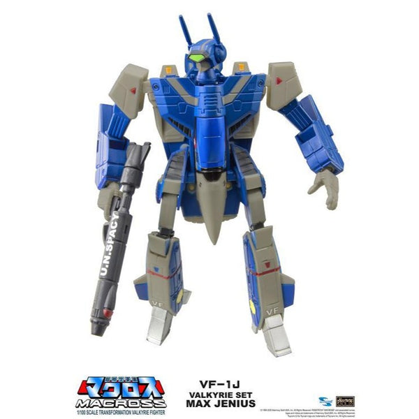 Macross Saga Retro Transformable Collection VF-1J Max Jenius Valkyrie 1/100 Scale Figure