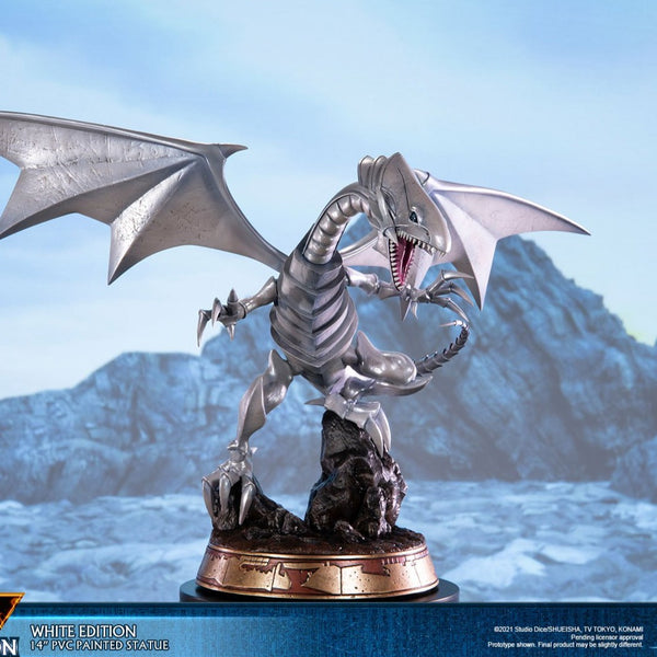 "Yu-Gi-Oh! Blue-Eyes White Dragon (White Variant) 14"" PVC Statue"