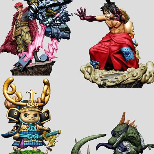 ONE PIECE MEGAHOUSE LOG BOX RE BIRTH WANOKUNI Vol.2 (Set of 4 Characters)