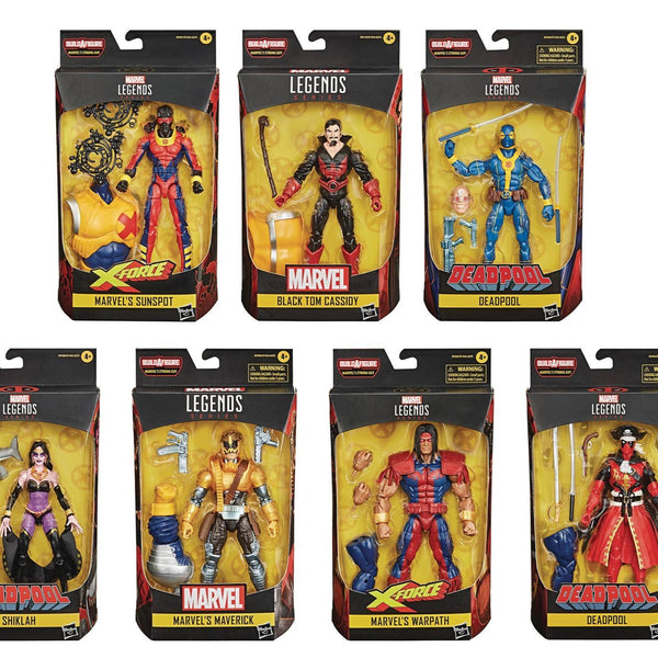 Marvel Legends Deadpool Wave Set of 8 Figures (Strong Guy BAF)
