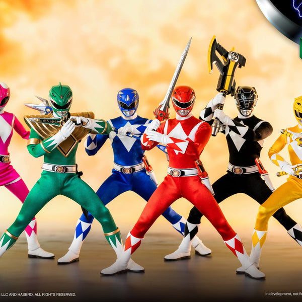 MIGHTY MORPHIN POWER RANGERS 1/6 SCALE AF 6PK SET