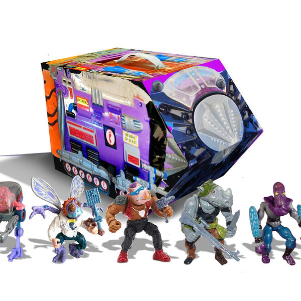 TMNT Retro Rotocast Villains Mutant Module PX Previews Exclusives Set
