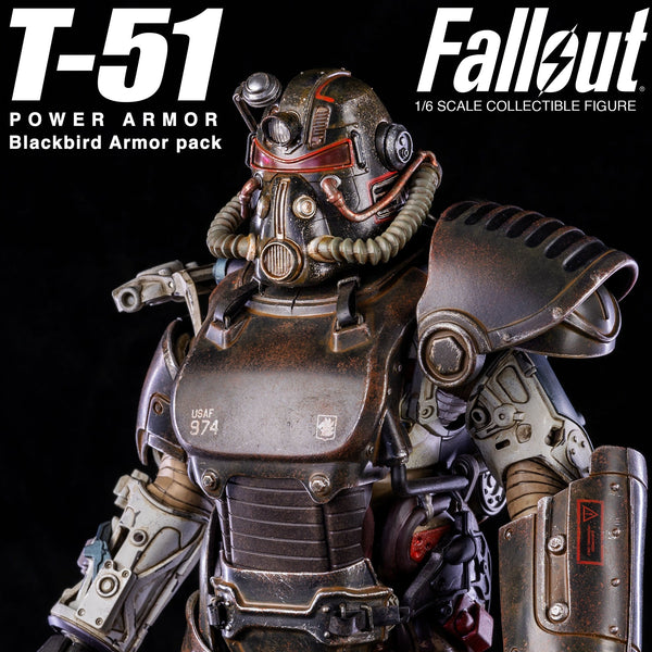 Threezero FALLOUT T-51 POWER ARMOR BLACKBIRD ARMOR PACK 1/6
