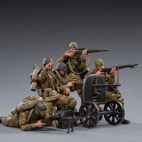 JOY TOY WWII SOVIET INFANTRY 1/18 FIGURE 5PK
