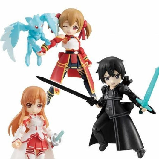 MEGAHOUSE DESKTOP ARMY Sword Art Online Collaboration Vol.1 ASUNA, KIRITO, SILICA (Set of 3 Characters)