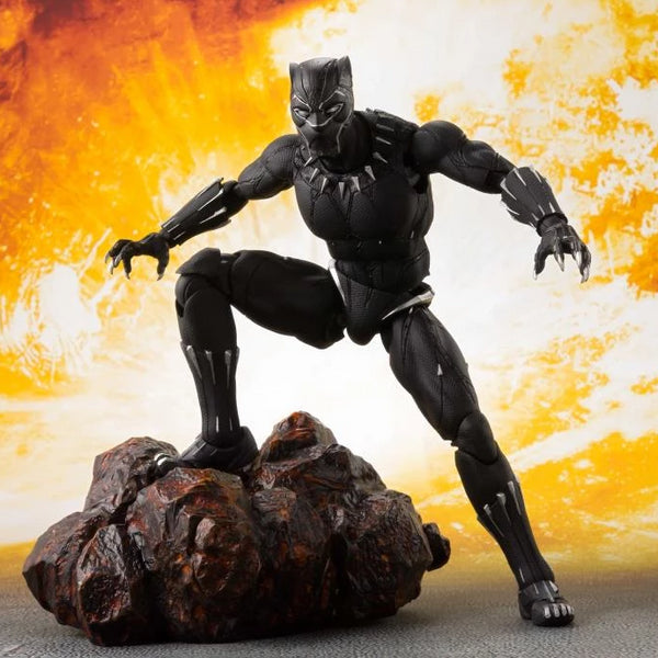 Bandai Tamashii Nations S.H.Figuarts Avengers: Infinity War Black Panther and Tamashii Effect Rock