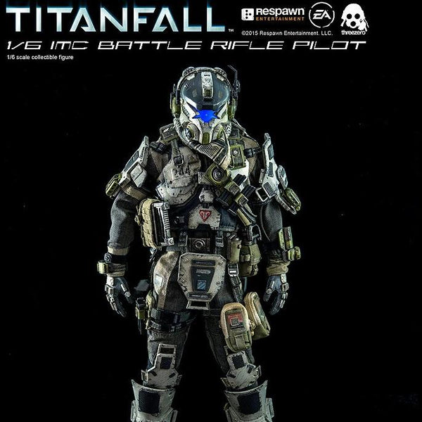 Threezero 3A TITANFALL IMC BATTLE RIFLE PILOT 1/6