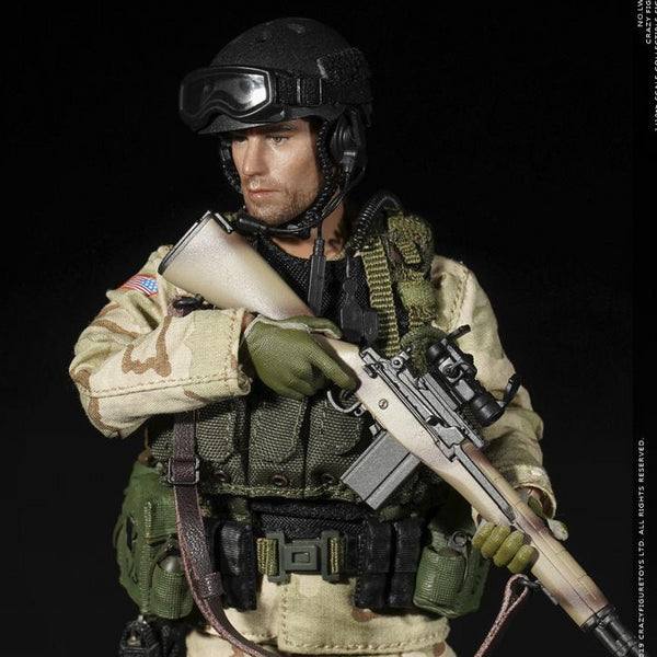 CRAZY FIGURE LW006 Delta Special Force M14 Sniper 1/12 Scale Figure