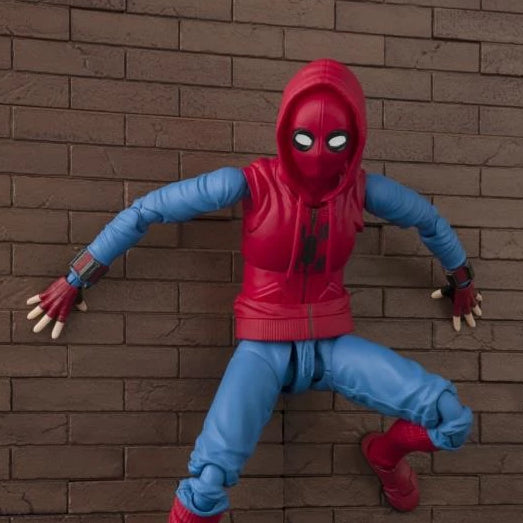Bandai Tamashii Nations S.H.Figuarts Spider-Man: Homecoming Spider-Man Homemade Suit & Tamashii Option Act Wall