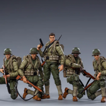 JOY TOY WWII US ARMY 1/18 FIGURE 5PK