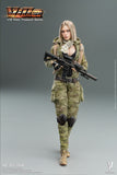 Very Cool 1:12 MC Camouflage Women Soldier Villa