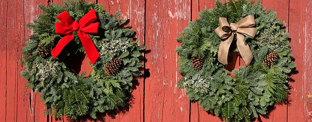 Handmade Christmas Wreath, Mount Hood Oregon