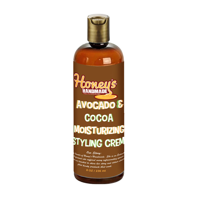 Avocado & Cocoa Moisturizing Styling Cream - Honey's Handmade