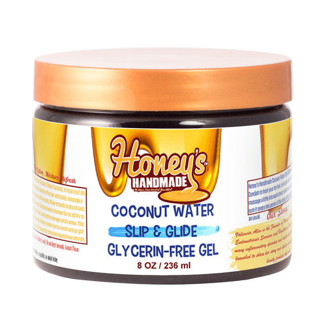 Coconut Water Slip & Glide  Glycerin-Free Gel - Honey's Handmade