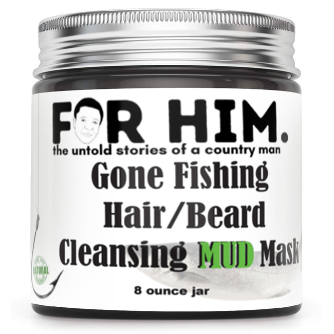 Gone Fishing  Hair/Beard Cleansing MUD Mask - Honey's Handmade