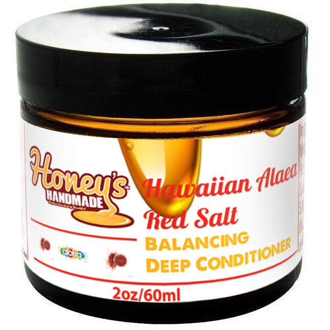 Hawaiian Alaea Red Salt Balancing Mini Deep Conditioner - Honey's Handmade