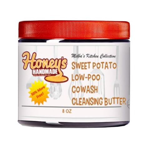 MELBA'S SWEET POTATO LOW-POO COWASH 16 OZ - Honey's Handmade